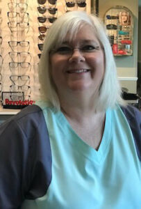 Ruth Burns Dispensary Manager and Chief Frame Stylist
